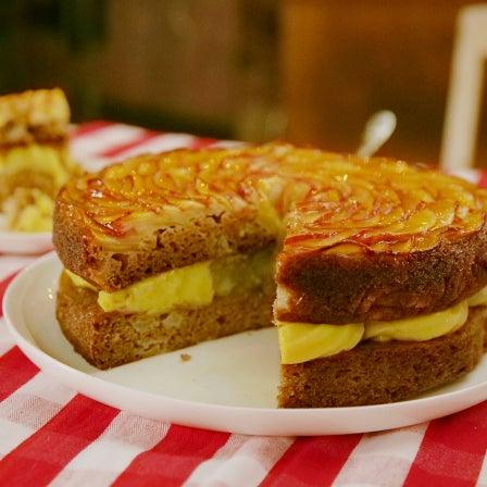 Vegan Apple Petal Cake