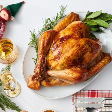 Roast Turkey with a Rice, Leek and Pistachio Stuffing Recipe