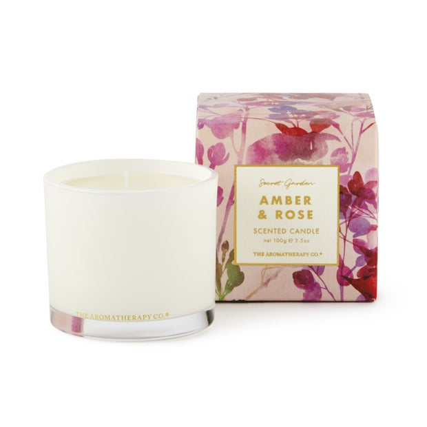 The Aromatherapy Co. Amber & Rose Candle, 100g