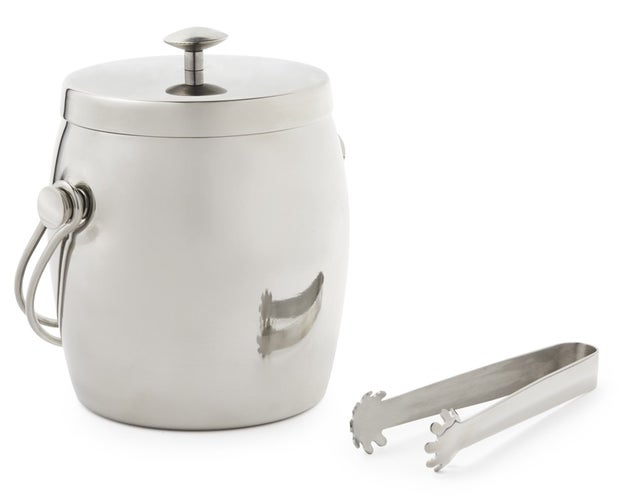 Momento Bar Stainless Steel Double Wall Ice Bucket with Tongs