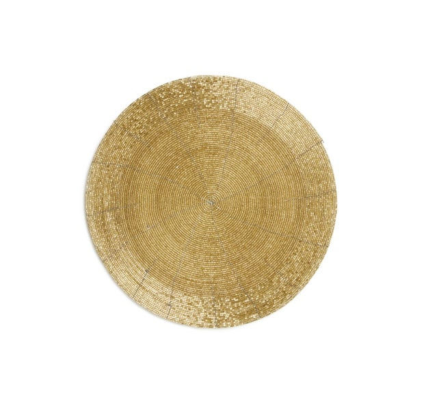 Momento Beaded Placemat, Gold