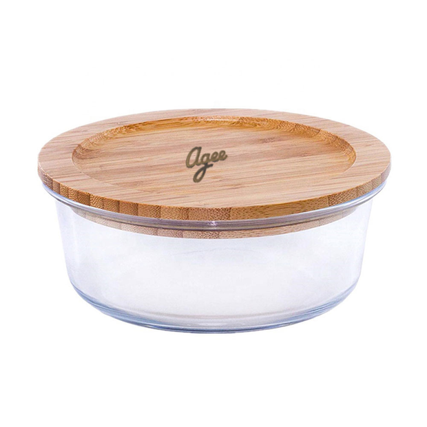 Agee Glass Container with Bamboo Lid, 950ml