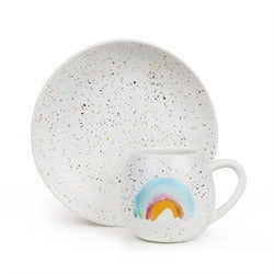 Robert Gordon Kids Plate & Mug Set, Rainbow