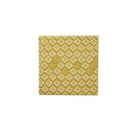 Stevens Gold Flower Napkin, 20 Pack