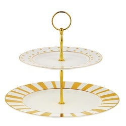 Tea Time Cake Stand, Gold