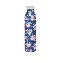 Manna Retro Bottle, Navy Floral, 600ml
