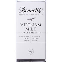 Bennetts Vietnam Milk Chocolate Bar, 60g