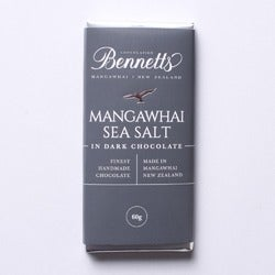 Bennetts Mangawhai Sea Salt Dark Chocolate Bar, 60g