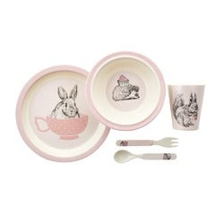 Momento Woodlands Children's Dinner Set, Pink, 5 Piece