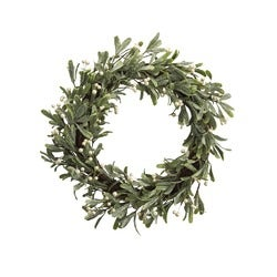 Christmas Joy Mistletoe Wreath with LED Lights, 50.8cm