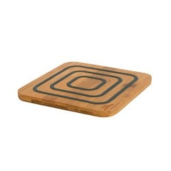 Agee Trivet Square Bamboo, Grey, 17cm