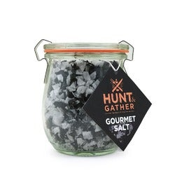 Hunt & Gather Sea Salt Flakes with Charcoal, 100g