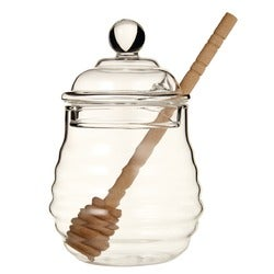 Capital Kitchen Honey Pot with Wood Dipper, 13cm