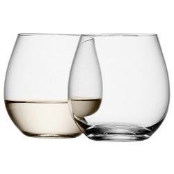 LSA Stemless White Wine Glass Set