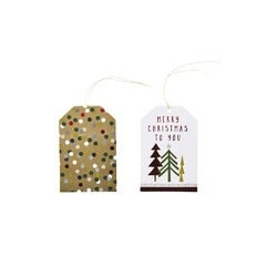 Christmas Festive Gift Card Tags, 10 Pack