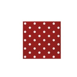 Stevens Red with Spot Napkin, 20 Pack