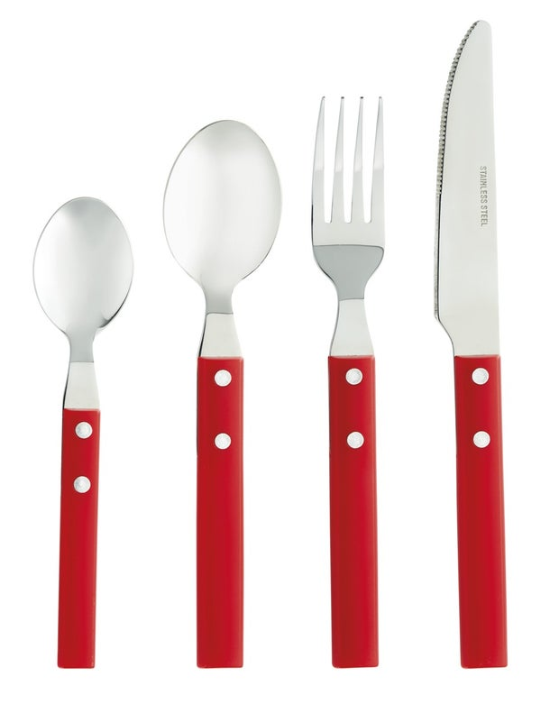 Momento Picnic Cutlery Set, Red, 16 Piece