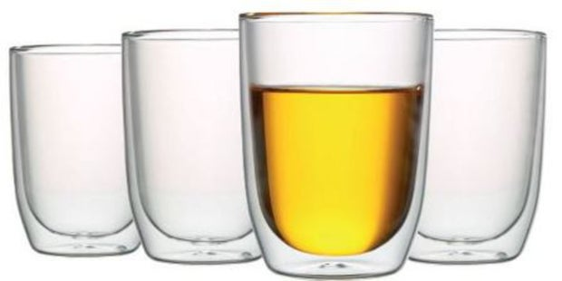 Momento Cafe Double-Wall Glass, Set of 4, 200ml