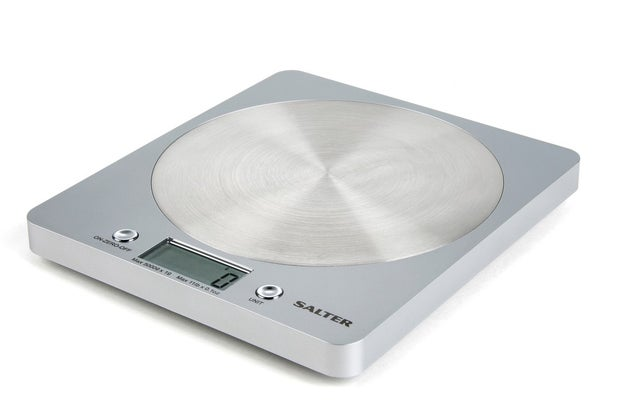 Salter Electronic Disc Scales, Silver