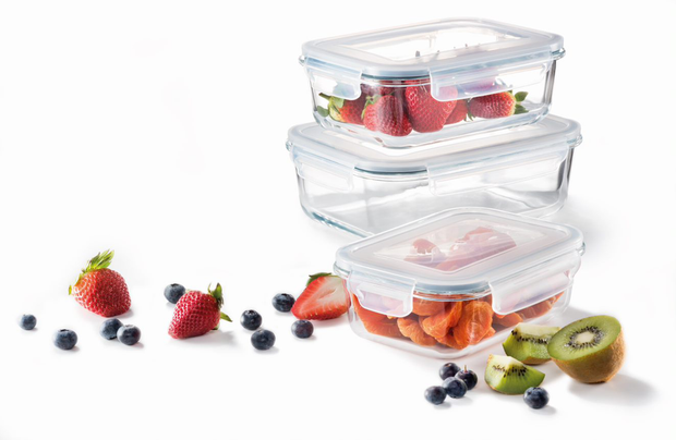Cuisine::pro Pure Glass Storage Container, Set of 3