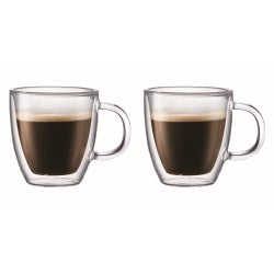 Bodum Bistro Double Wall Mug, Set of 2, 300ml