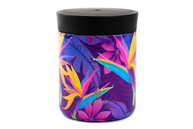 Manna Food Container, Purple Birds of Paradise, 500ml