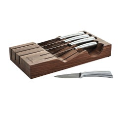 Capital Kitchen Signature Walnut Knife Block Set, 6 Piece