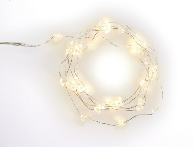 Momento Glow LED Heart Seed Lights Silver