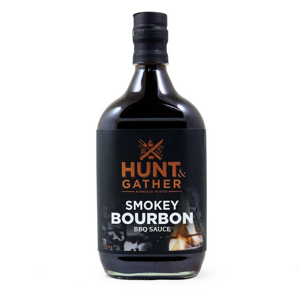 Hunt & Gather BBQ Smokey Bourbon Sauce, 375ml