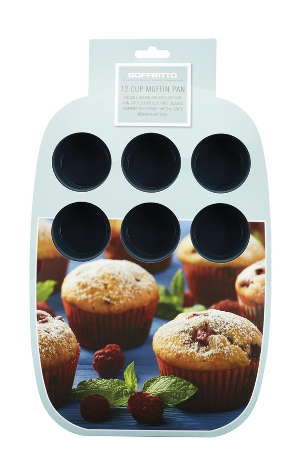 Soffritto Silicone Muffin Pan, 12 Cup