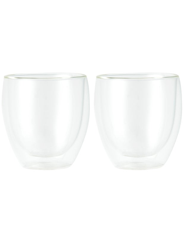 Bodum Pavina Double Wall Glass, Set of 2, 250ml